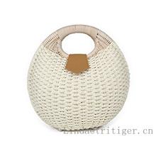 Оптовые дешевые тканые сумки из ротанга белые соломенные сумки ручной работы плетеные оболочки клатч