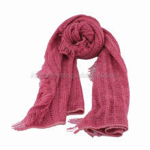 Fringed Knitted Scarf Made of Quality Yarn (GMK20-11)