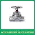 Sanitary diaphragm valves SS handwheel clamp end