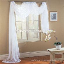 Textil para el hogar Bufanda azul sólido listo hecho poliéster hotel cortinas de calidad