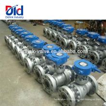 Fabricant pneumatique avec la clé Argu Pvc Ansi en acier au carbone 4 pouces à brides Dimension du robinet à tournant sphérique
