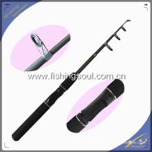 TSR004 5'6 '' Cannes de pêche télescopiques en fibre de verre