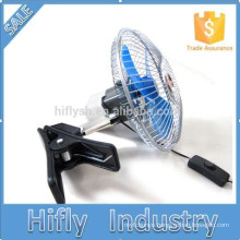 HF-806 DC12/24V Mini Powered Car Fan Portable Oscillating Car Fan 6 Inch Semi-Sealed Car Fan