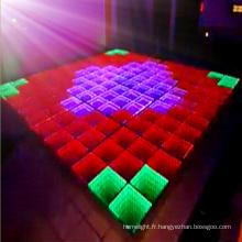 Nouvelle vidéo et lumière de panneau de plancher de danse de LED de Ineteractive pour la discothèque et la boîte de nuit
