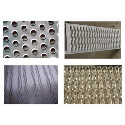 Construction materials Stainless steel decorative metal perforated sheets