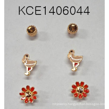 Jewelry Set Animal Flower Earring with Metal