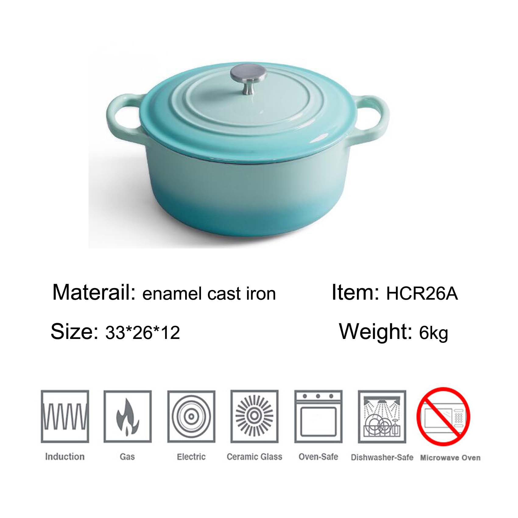 enamel cast iron kitchenware