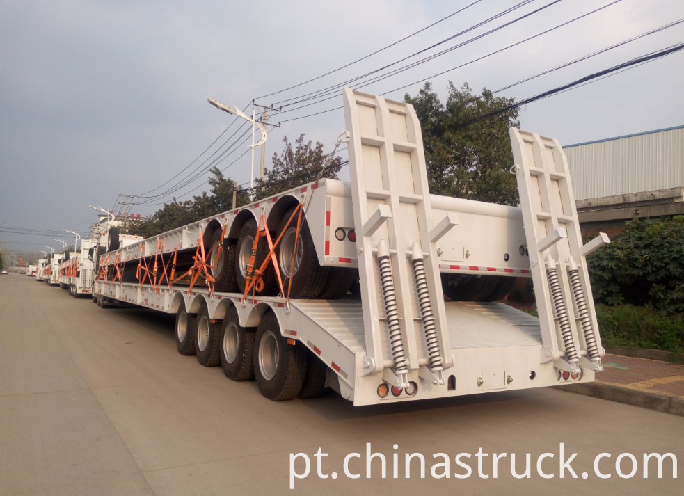 100Ton low bed semi-trailer