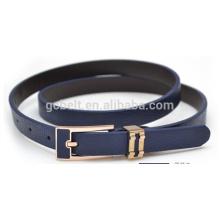 lady fashion simple PU belt for dressing