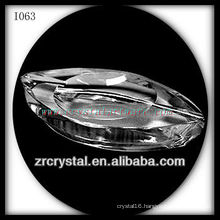 Unique K9 Crystal Ashtray with Oval Shape