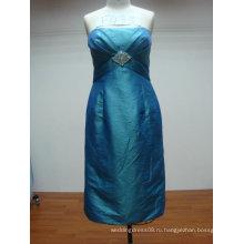 синий бисера короткие вечерние платья F433