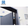 Fangda surface bleu 4 lite verre peint portes de sécurité contemporaines