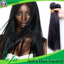 Выдвижение Волос Remy Девственницы 100% Человеческих Волос Weave