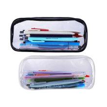 Transparent Stationery Zipper Bag Clear PVC PEVA Pencil Bag Plastic Pencil Case Glitter Pencil Case