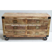 wooden rough wood sideboard indsutrial design