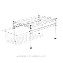 vivinature alta qualidade Single Basket Organizer com gaveta de fio