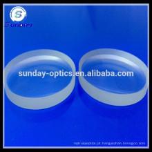 Lente convexa de vidro plano, K9, BK7, 12,7 mm, 20 mm, 25 mm, 25,4 mm