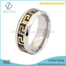 Trendy Titan Stahl Ring für Männer, benutzerdefinierte Titan Silberschmuck