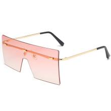 Flat Top Oversized Square Rimless Superhot Eyewear 2020 new arrivals sun glasses shades custom designer sunglasses women 87048