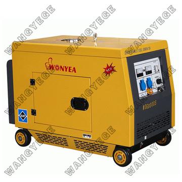 Generador diesel con el sistema, grande silenciador para un funcionamiento silencioso de arranque eléctrico