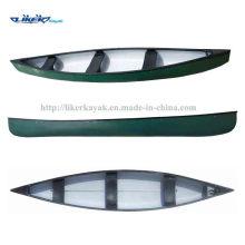 Canoa de pesca canoa canadiense Clásico tres asientos Canoa Kayak