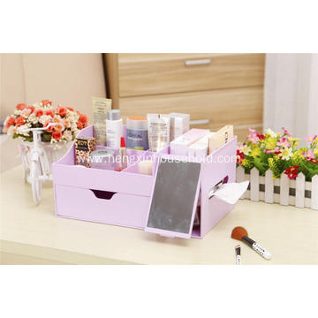 Table Standing Makeup Storage Case With Mirror,Drawer