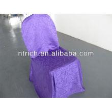 Couverture de chaise élégante tissu damassé, couverture de chaise jacquard