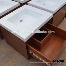 resistência natural ao molde e ao mildew superfície sólida vaidade do banheiro pia dupla