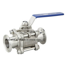 Stainless Steel 3PC Clamp Ball Valve 1000wog