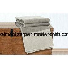Couvertures tissées de laine vierge mérinos pure rayures