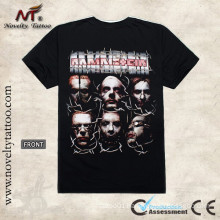 R100465 Men Head Tattoo Black T-shirt