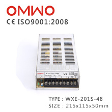Wxe-201s-48 Hotsale Constante 201W Fonte de Alimentação de Saída Única AC a DC SMPS Switch