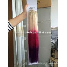 Alibaba evaluó fábrica de alta calidad buen proveedor 3 tono color ombre pelo