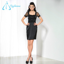 Satin Tulle Black Short Sexy Mother Of The Bride Dresses