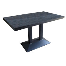 Mesa de comedor rectangular para hotel y café