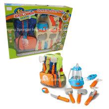 Boutique Playhouse plástico brinquedo-camping conjunto com saco