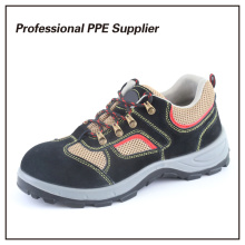 Zapato de seguridad deportivo de la PU del cuero de gamuza