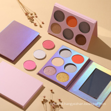 High Quality Beauty Eye Makeup 6 Colors Customized Brand High Pigment Makeup Matte and Shimmer Eyeshadow Palette