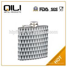 6 унций серый цвет печатной нержавеющей стали металла Фляга
