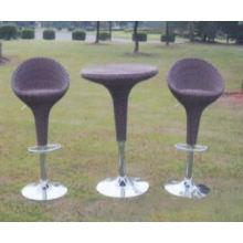 Stock à l'extérieur des meubles en osier Bistro Set Accept Min Order