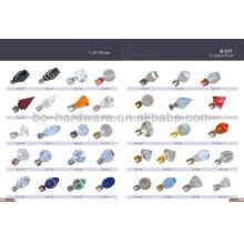 60mm Glas Vorhang Stange Finial, alle Arten von Glas Vorhang Stange Finial