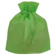 Bolso de mano no tejido con cordón
