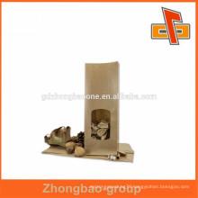 Various kraft paper food packaging bag,good quality kraft paper snack bag greaseproof pouch