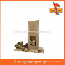 Различный мешок упаковки еды kraft бумажный, мешок завалки бумаги kraft хорошего качества смазливый мешок