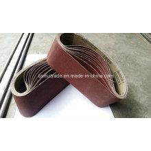 Cinturón de lijado abrasivo para madera de metal