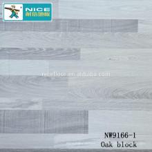 NWseries Carvalho de blocos Parquet de pisos de madeira HDF núcleo Parquet Flooring