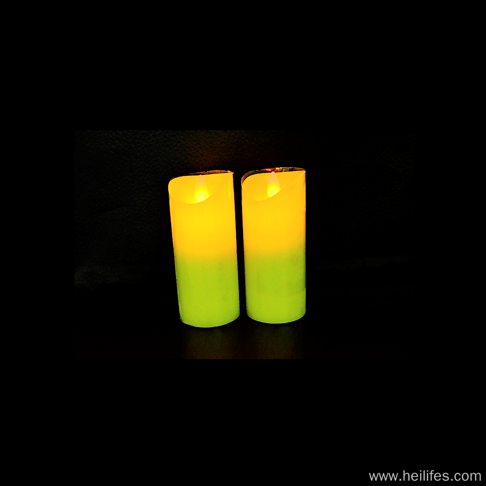 Customized Festival Gifts of Yellow Candle Light