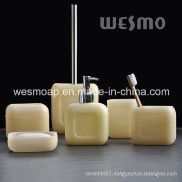 Soap Shape Polyresin Bathroom Set (WBP0957A)
