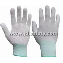 Полиэстер работы перчатки с ПВХ мини точек (PN8107)