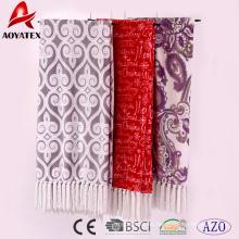 100 poliéster venta caliente toda la fábrica de china microfibra impresa calienta franela de lana de manta
